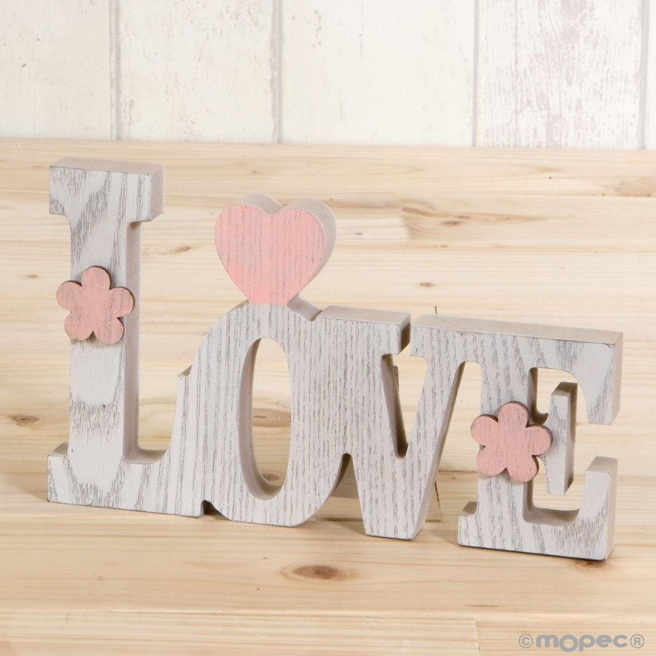 Decoración madera Love 20cm